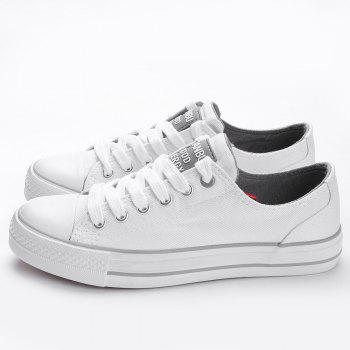 Casual Canvas Skate Shoes - WHITE 38