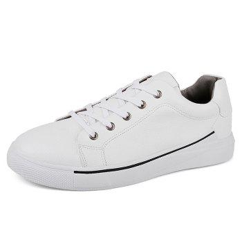 Round Toe Lace Up Skate Shoes - WHITE 43