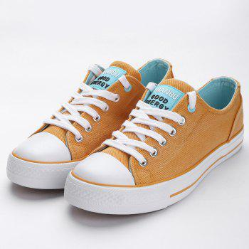 Casual Canvas Skate Shoes - ORANGE 38