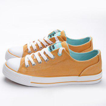 Casual Canvas Skate Shoes - ORANGE ORANGE