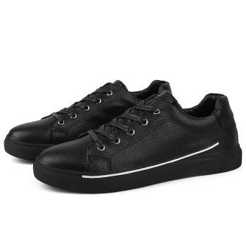 Round Toe Lace Up Skate Shoes - BLACK 41