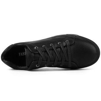 Round Toe Lace Up Skate Shoes - BLACK 39