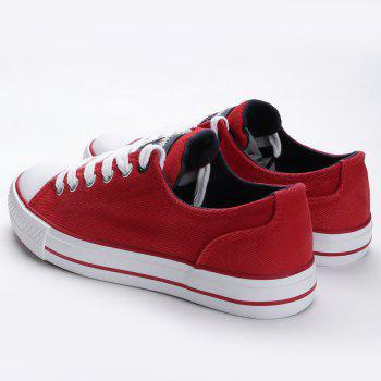 Casual Canvas Skate Shoes - RED RED