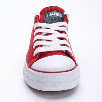 Casual Canvas Skate Shoes - RED 36
