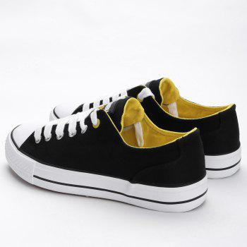 Casual Canvas Skate Shoes - BLACK 40