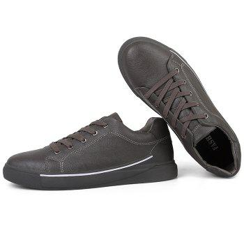 Round Toe Lace Up Skate Shoes - GRAY 44