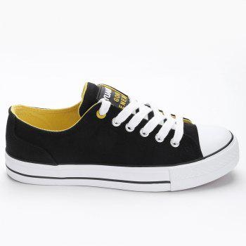 Casual Canvas Skate Shoes - BLACK 38
