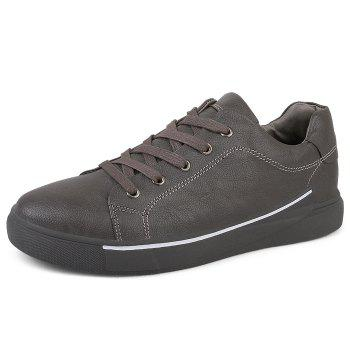 Round Toe Lace Up Skate Shoes - GRAY 42