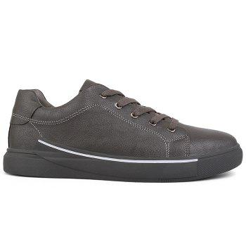 Round Toe Lace Up Skate Shoes - GRAY GRAY