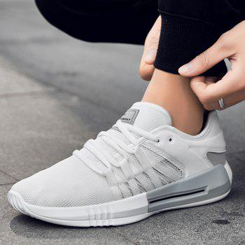Casual Breathble Mesh Sneakers - WHITE 40