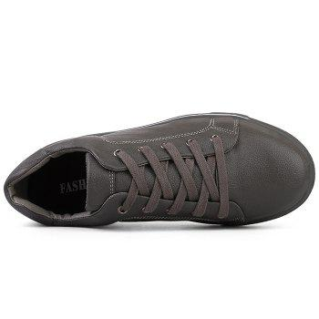 Round Toe Lace Up Skate Shoes - GRAY 40