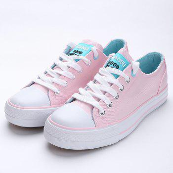 Casual Canvas Skate Shoes - PINK 40