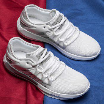 Casual Breathble Mesh Sneakers - WHITE 43