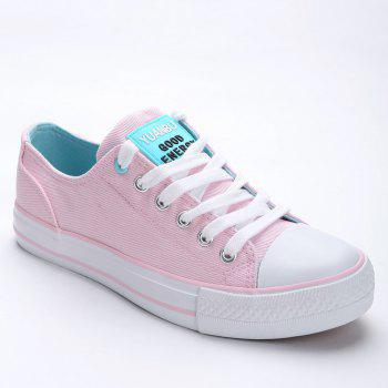 Casual Canvas Skate Shoes - PINK PINK