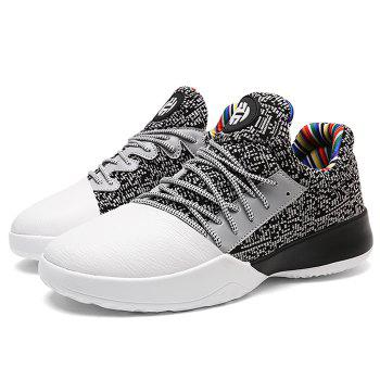 Casual Color Block Running Sneakers - GREY/WHITE GREY/WHITE