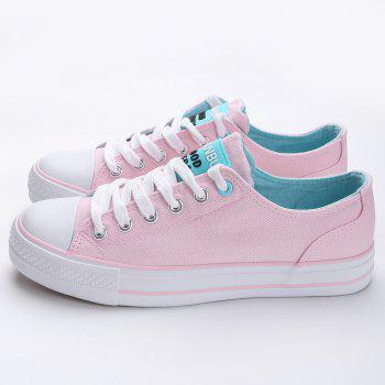 Casual Canvas Skate Shoes - PINK 38