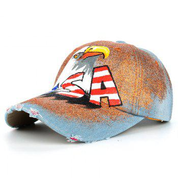 Unique Hand Drawing Eagle Pattern Snapback Hat - #02
