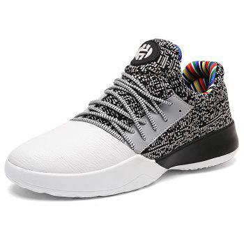 Casual Color Block Running Sneakers - GREY/WHITE 41