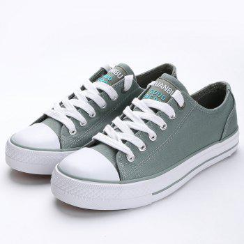 Casual Canvas Skate Shoes - ARMY GREEN 39