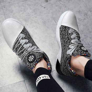 Casual Color Block Running Sneakers - GREY/WHITE 42