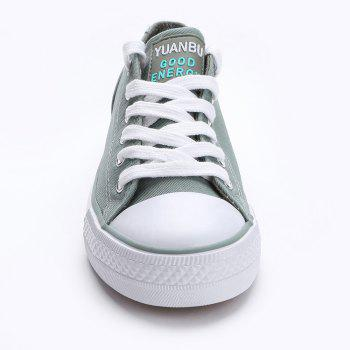 Casual Canvas Skate Shoes - ARMY GREEN 40
