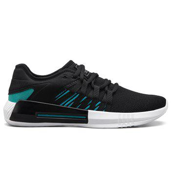 Casual Breathble Mesh Sneakers - BLACK AND GREEN BLACK/GREEN