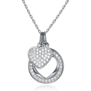 Sterling Silver Valentine s Day Heart Necklace