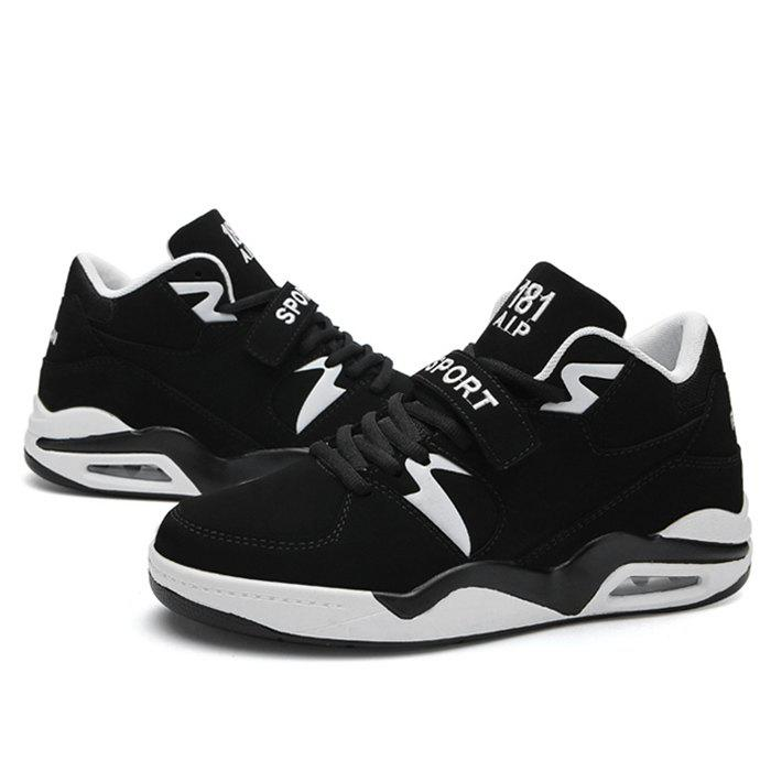 Air Cushion Letter Athletic Shoes - BLACK 42