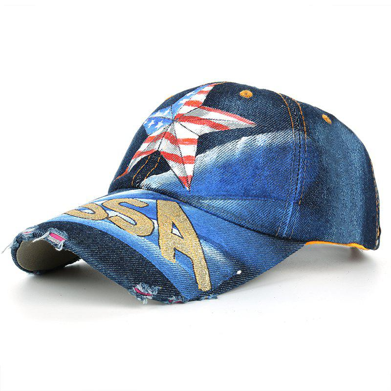 Unique Hand Drawing Star Pattern Baseball Cap -