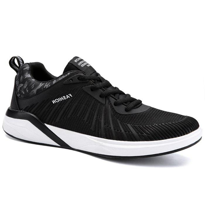 Splicing Air Cushion Athletic Shoes - BLACK WHITE 40