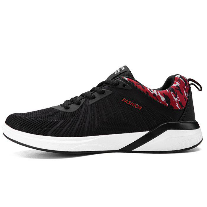 Splicing Air Cushion Athletic Shoes - BLACK/RED 39
