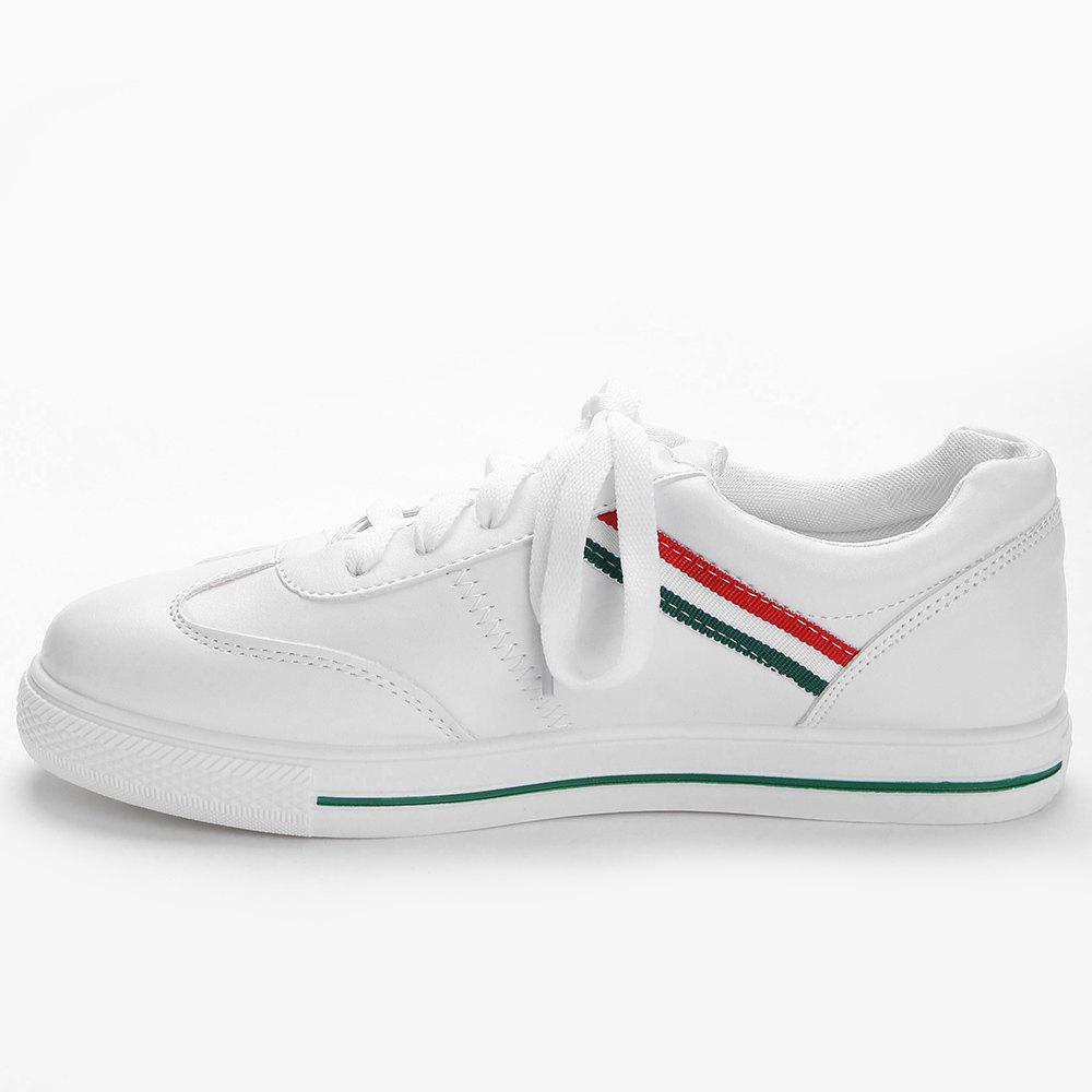 Color Block Striped Stitching Sneakers - GREEN 35