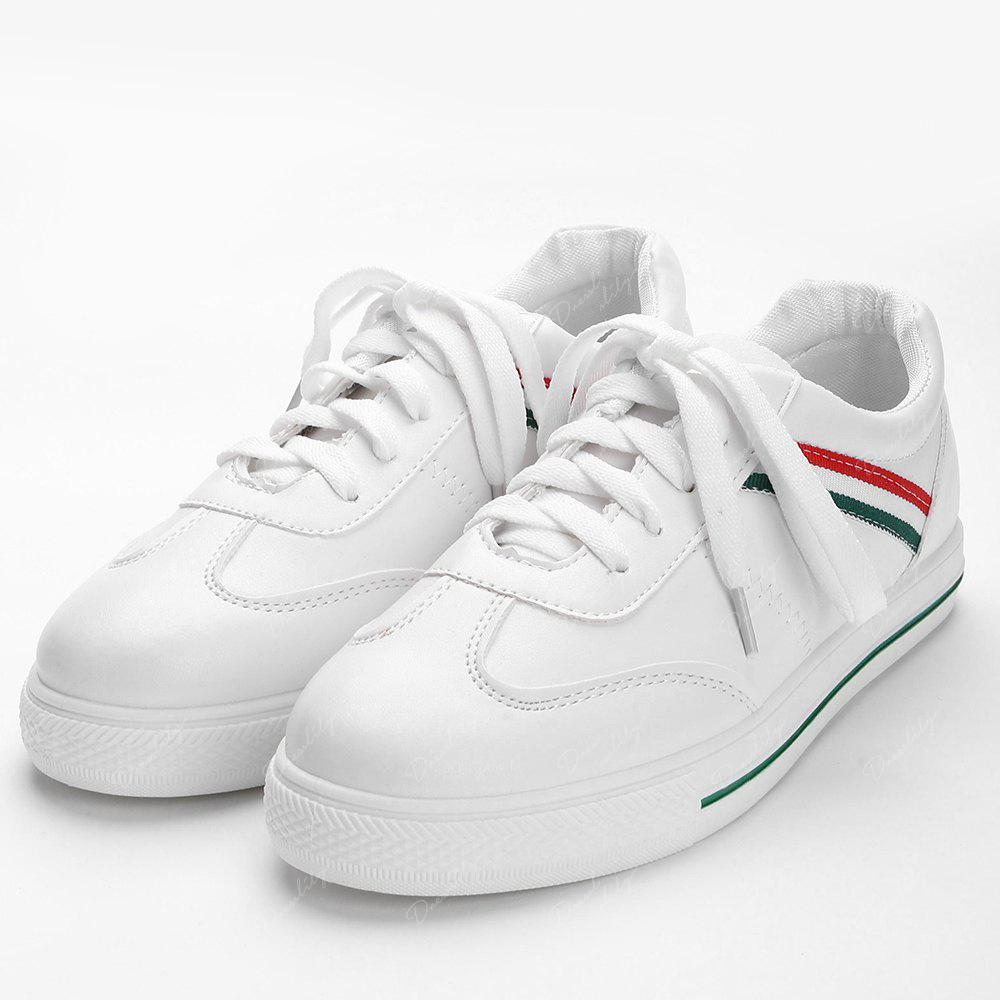 Color Block Striped Stitching Sneakers - GREEN 39