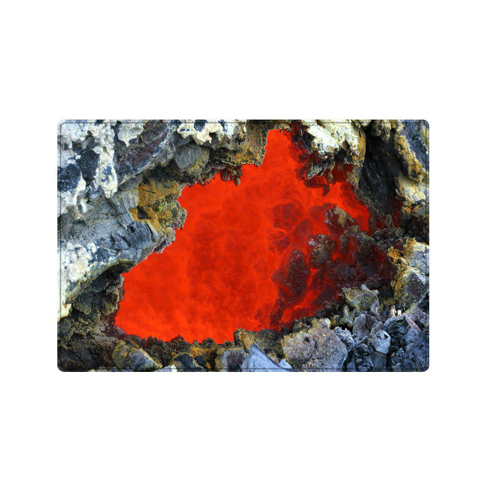 Ablaze Rock Cave Pattern Floor Area Rug - RED W20 INCH * L31.5 INCH