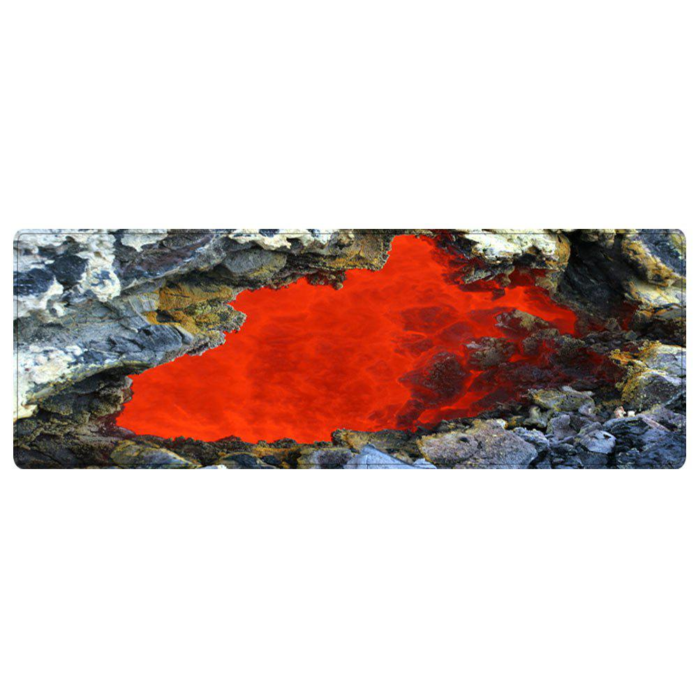 Ablaze Rock Cave Pattern Floor Area Rug - RED W16 INCH * L47 INCH