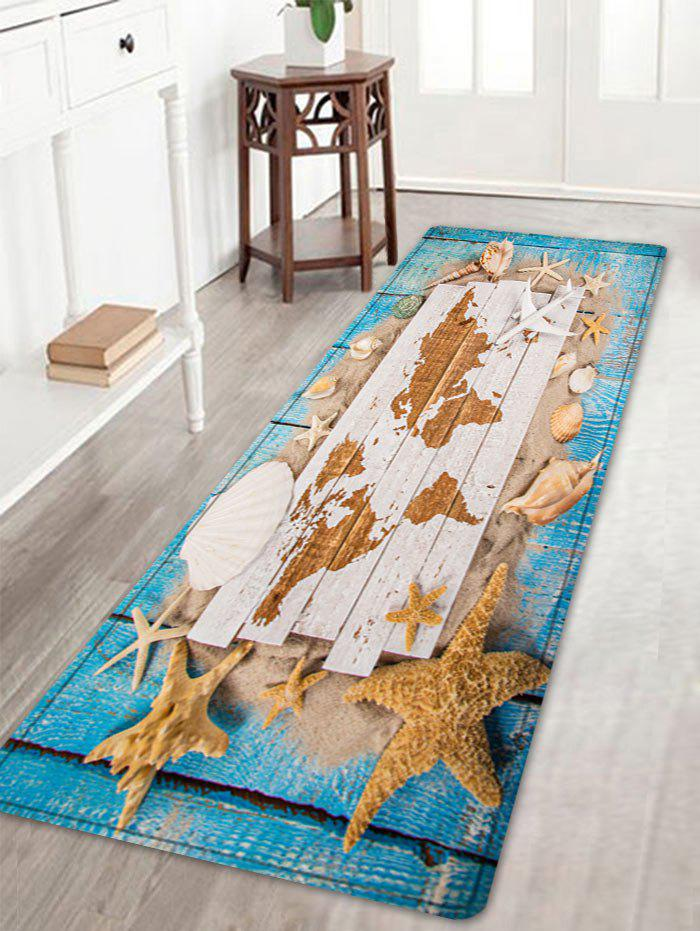 Sand Shell Starfish Pattern Floor Area Rug - COLORMIX W16 INCH * L47 INCH