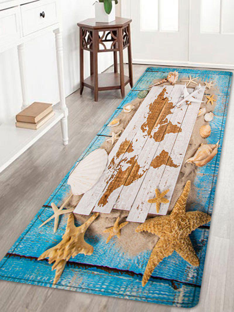 Sand Shell Starfish Pattern Floor Area Rug - COLORMIX W24 INCH * L71 INCH