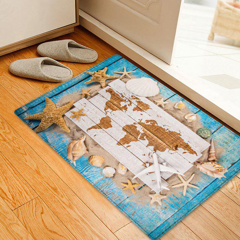 Sand Shell Starfish Pattern Floor Area Rug - COLORMIX W20 INCH * L31.5 INCH