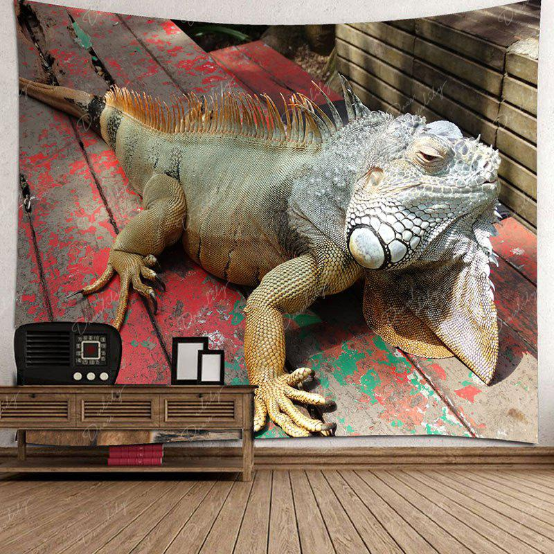 Lizard Printed Wall Art Hanging Tapestry - BROWN W91 INCH * L71 INCH