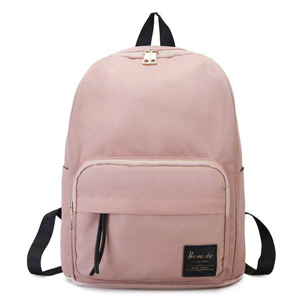 Minimalist Backpack with Handle - PINK
