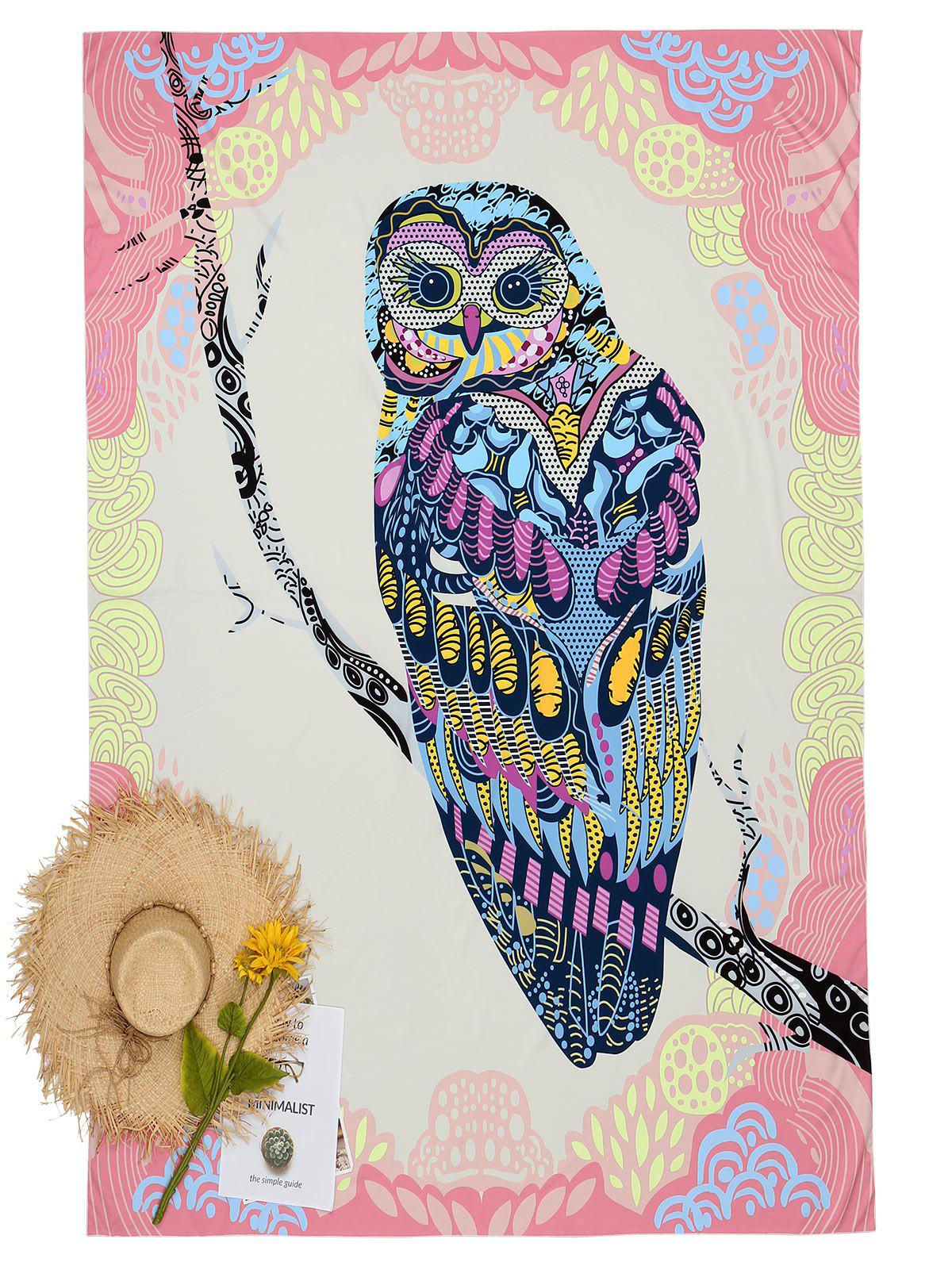 Owl Pattern Summer Sunbath Beach Throw - COLORMIX ONE SIZE