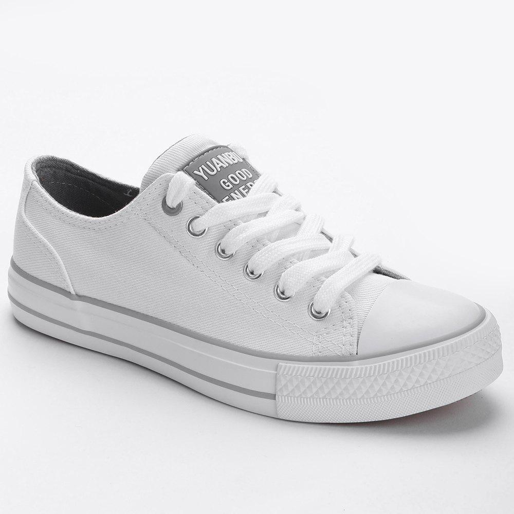 Casual Canvas Skate Shoes - WHITE 37