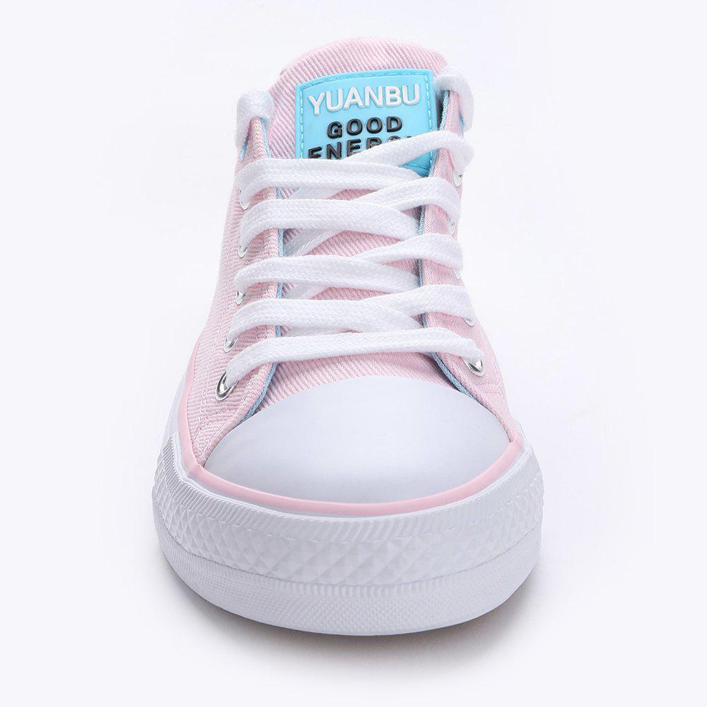 Casual Canvas Skate Shoes - PINK 37