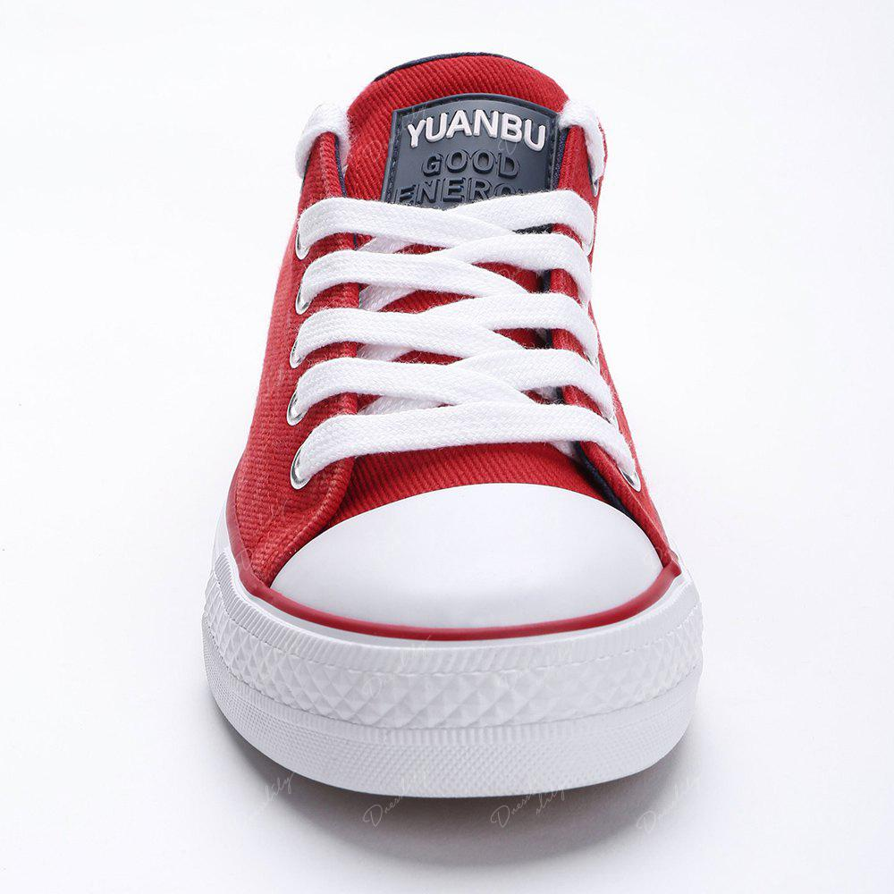 Casual Canvas Skate Shoes - RED 38