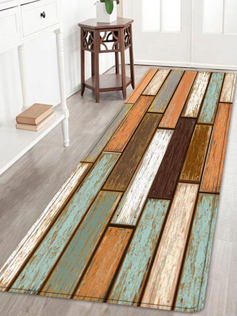 Wooden Flooring Pattern Floor Area Rug Colormix W24 Inch L71