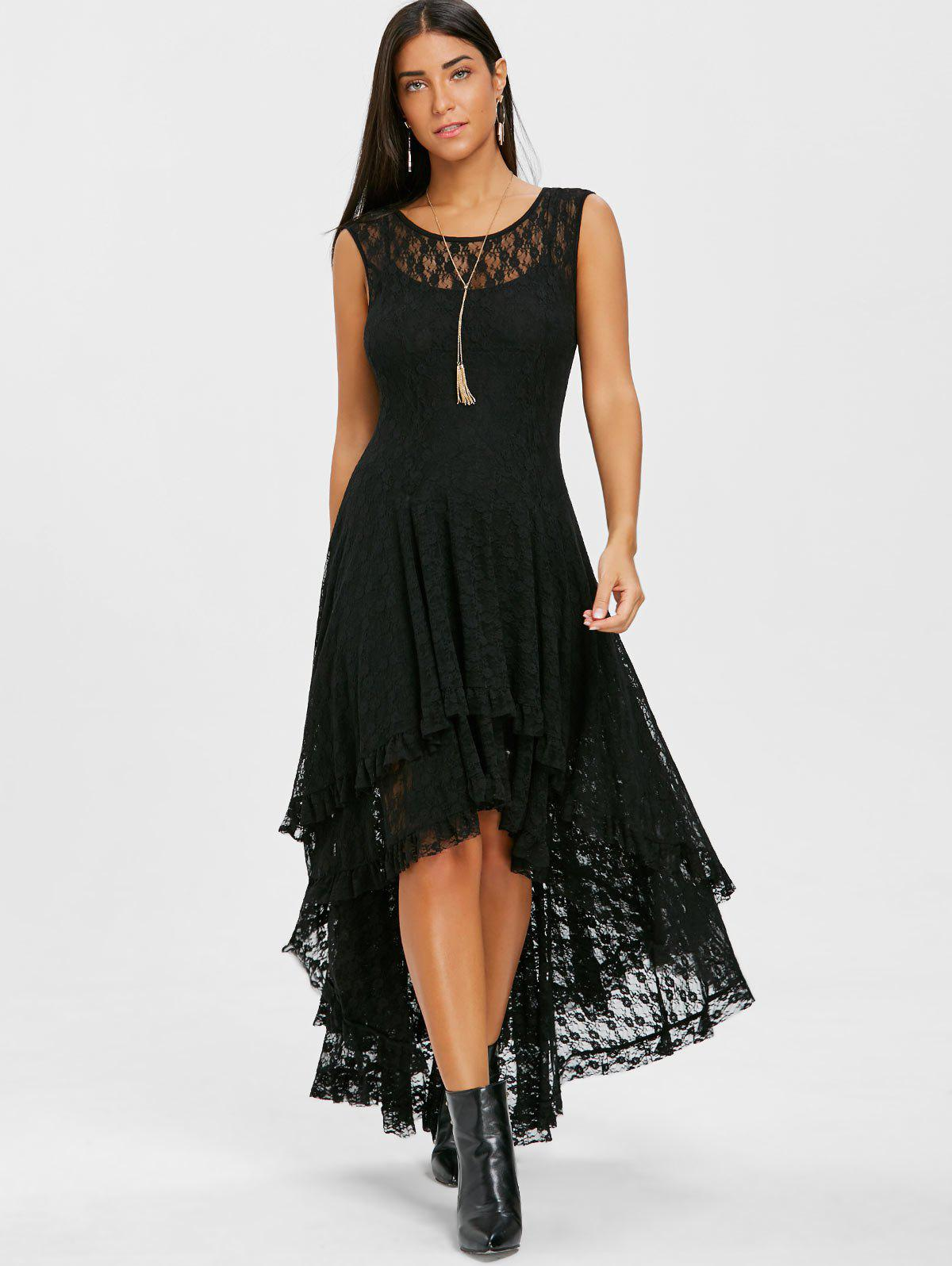 Layered Lace High Low Dress -