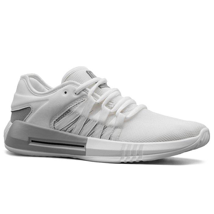 Casual Breathble Mesh Sneakers - WHITE 44