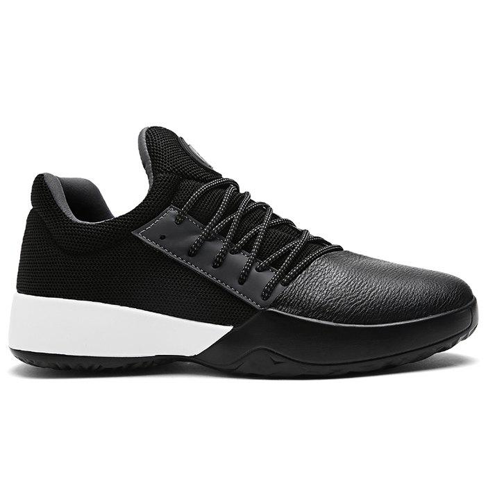 Casual Color Block Running Sneakers - BLACK 42