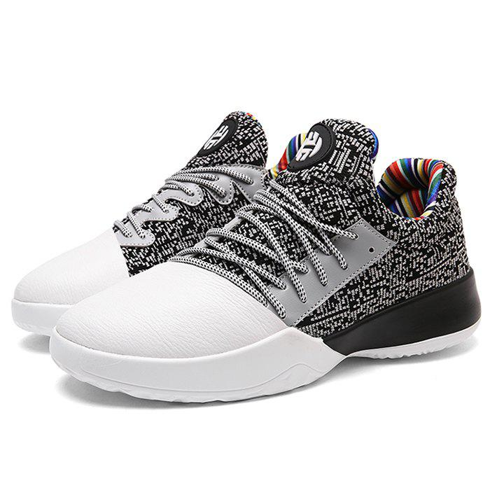 Casual Color Block Running Sneakers - GREY/WHITE 44