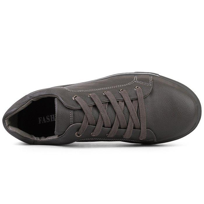 Round Toe Lace Up Skate Shoes - GRAY 39